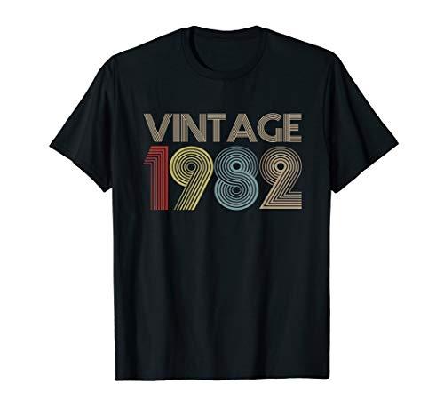 37th Birthday Gift Idea Vintage 1982 T-Shirt Distressed