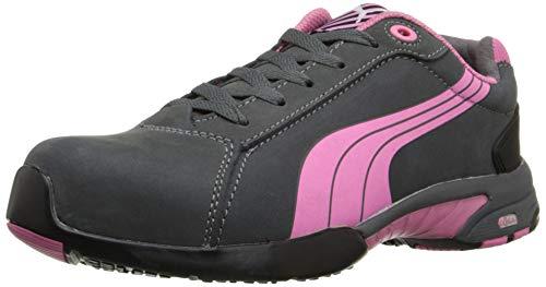 PUMA Women's Balance Work Shoes Steel Toe Grey 8 ()