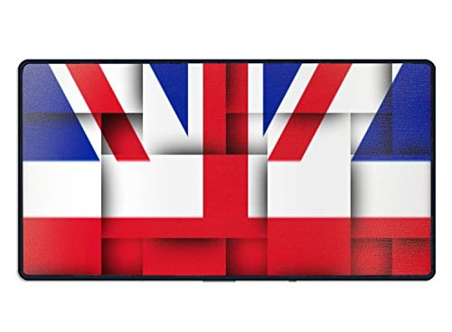 United Kingdom Flag Large Extended Gaming Mouse Pad,Mousepad for Computers,Keyboard Pad,Laptop Mouse Mat,Natural Rubber Base Cloth ()
