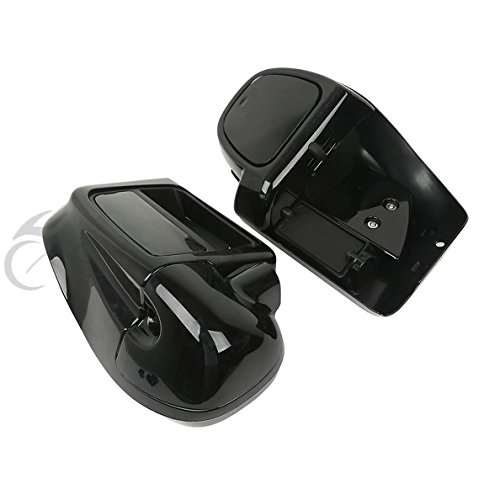 TCMT Black Glove Box Lower Vented Leg Fairings For Harley Touring Electra Glide Road King 2014 2015 2016 2017 2018 by TCMT (Image #3)
