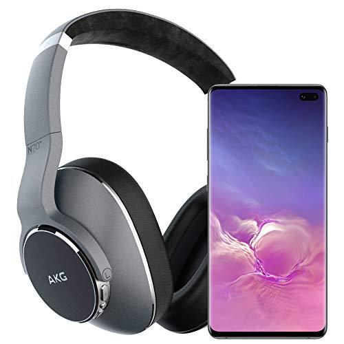 Samsung Galaxy S10+ Plus Factory Unlocked Phone with 512GB (U.S. Warranty), Ceramic Black w/AKG N700NC Headphones