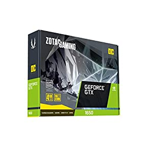 ZOTAC Gaming GeForce GTX 1650 OC 4GB GDDR6 128-bit Gaming Graphics Card, Super Compact, ZT-T16520F-10L