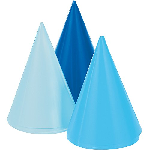 Blue Cone Party Hats (Blue Mini Party Hats (8ct))