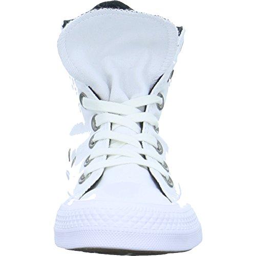 Zapatillas De Lona Converse Para Mujer Chuck Taylor All Star Hi, Blanco, Negro