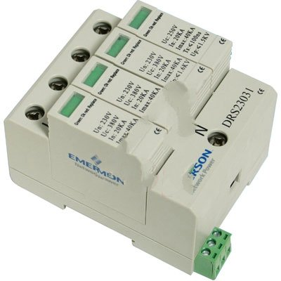 277//480V Three Phase Wye Control Concepts DRS27740 TVSS Din Rail Protection