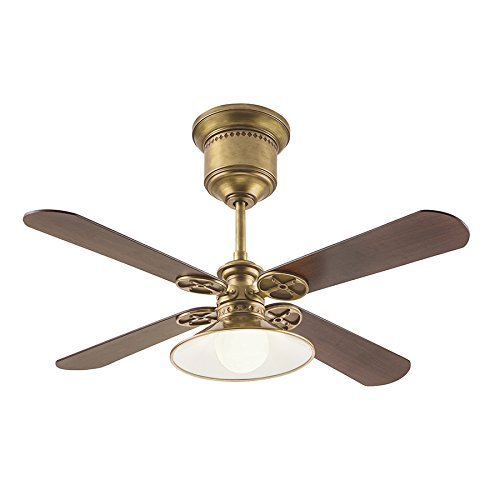 52-in Natural Brass Downrod Mount Indoor Ceiling Fan with Light Kit and Remote (4-Blade) Review