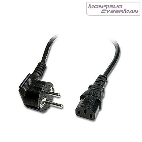 Juego de 10 cables de alimentación Pc Mac pantalla impresora ...