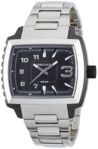 Diesel DZ1367 Military Tough Black & Silver Stainless Steel Men's Watch