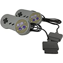 W4W Super Nintendo SNES Remote Control - 7 Pin Connector - Pack of Two Conrollers (2 Pack)