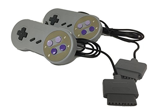 W4W Super Nintendo SNES Remote Control - 7 Pin Connector - Pack of Two Conrollers (2 Pack) from W4W