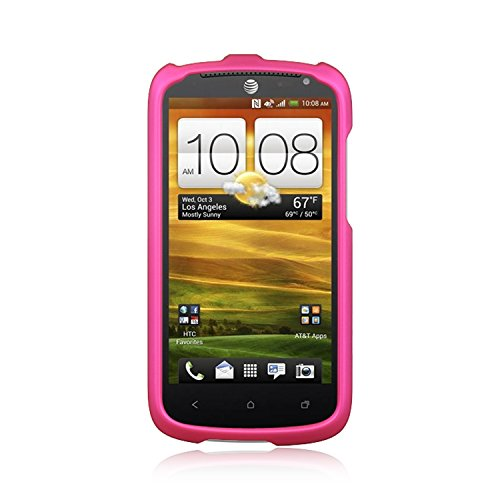 Protector Shield Magenta Case (Magenta Rubberized Hard Cover Protector Case for HTC One VX)