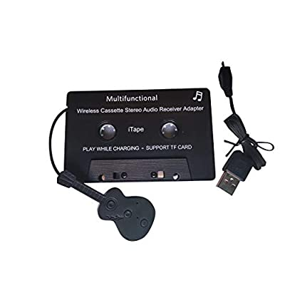HEIBAIGE Cassette Adapter Car Bluetooth Audio Receiver Work While Charging: Home & Kitchen