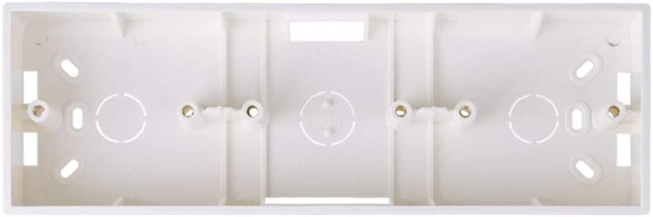 Caja de montaje externa 258 mm * 86 mm * 34 mm para 86 interruptores o enchufes triples de tipo 86 Se aplican para cualquier posición de la superficie de la pared: Amazon.es: Hogar