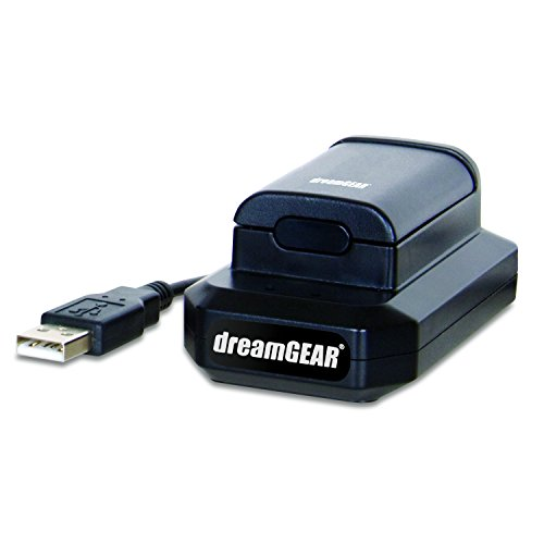 dreamGEAR – Power Kit (charging cable + rechargeable battery + charging dock) - play while you charge! – for Xbox 360 by dreamGEAR