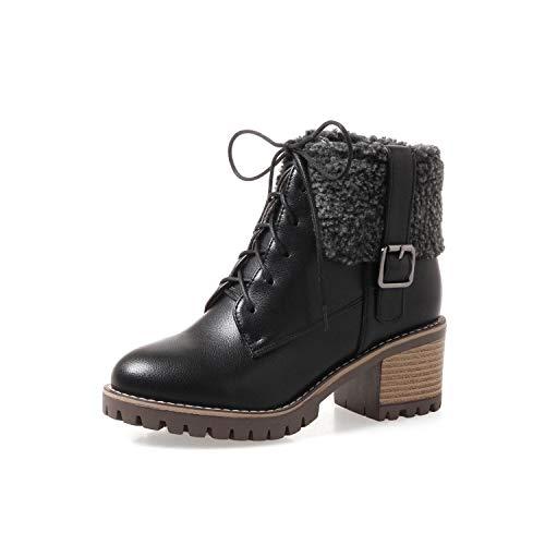 Europa Cruzan Shoe Phy Estados Unidos Botines Martin Otoño E Gruesas Correas Negro Invierno Y Con Botas BxwUq8
