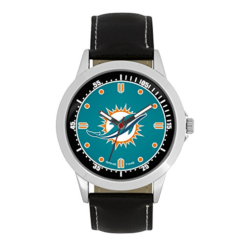 NFL Miami Dolphins Mens Player Series Wrist Watch, Silver, One Size