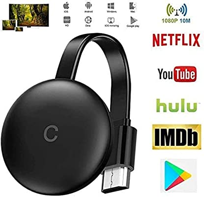 AN De TV para El Nuevo Google Chromecast 3 para Netflix Youtube WiFi Pantalla HDMI Dongle Inalámbrica Miracast para Android iOS PC,WiFi Aparato,para La Conexión De WiFi: Amazon.es: Hogar