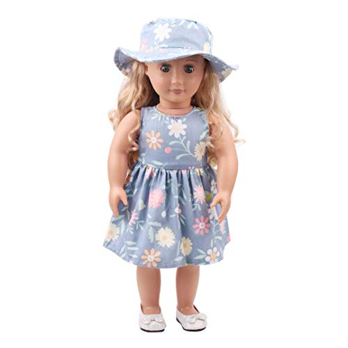 Sinfu 18 inch Our Generation American Girl Doll Hat Skirt Summer Outfits (18 inch, F)