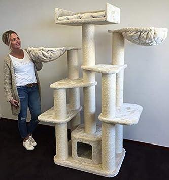 RHRQuality - Árbol de rascar para gatos grandes y pesados, 65 kg, diámetro: