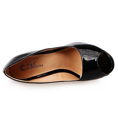 Femmes Pu2018 Nouveaux Couleur Chaussures Hautes Hauts L Gradient Pompes Des Pour Chaussures Femmes Svhs Talons Talons Noires gYf1qH