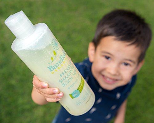 Organic Baby Shampoo & Body Wash with Aloe, Cucumber, Citrus Essential Oils – Safe, Gentle, Tear Free – Eczema Friendly – Paraben, Dye, Gluten, and Sulfate Free – 16 oz by BareBaby Organics (Image #3)