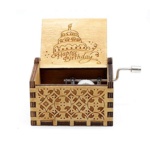 VDV Music Box Wood Music Box Zelda Star Wars Game of Thrones Castle in The Sky Beauty and Beast Theme