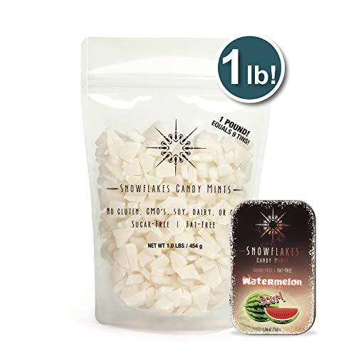Snowflakes Xylitol Candy Chips - 1LB Bag (Sour Watermelon) (Watermelon Xylitol)