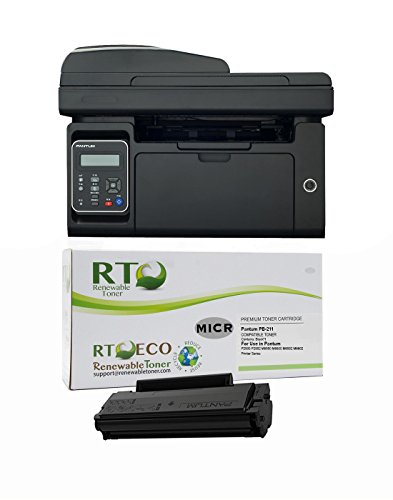 RT M6550NW MICR Check Printing Package: Pantum M6550NW Printer and 1 PB-211 MICR Toner Cartridge; starter yield 500 pages
