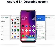 Smartphone Oferta del día DUODUOGO P26, 5,85 Pulgadas HD+ 4 GB + 64 GB (Ampliable 128 GB), Dual SIM 4G Volte, batería 4200 mAh, Android 8.1 Pie Octa Core, 12 MP cámara, Face ID Telefonia Mobile: Amazon.es: Electrónica