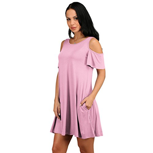 ZhiYuanAN Damen Shirt Kelid Top Sommer Einfarbig Sexy Mini Dress ...