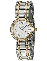 Haste 111342890 Reloj para Mujer, Redondo, Análogo, color Perla y Plata