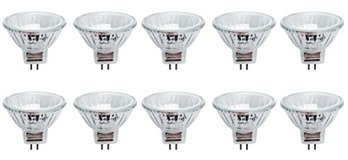 - Anyray A1868Y (10-lamps) Clear MR11 12Volt 10Watt Precision Halogen Reflector Fiber Optic Light Bulb 10W 12V