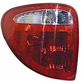 QP D7322-b Chrysler Town & Country Driver Tail Light Lamp Assembly