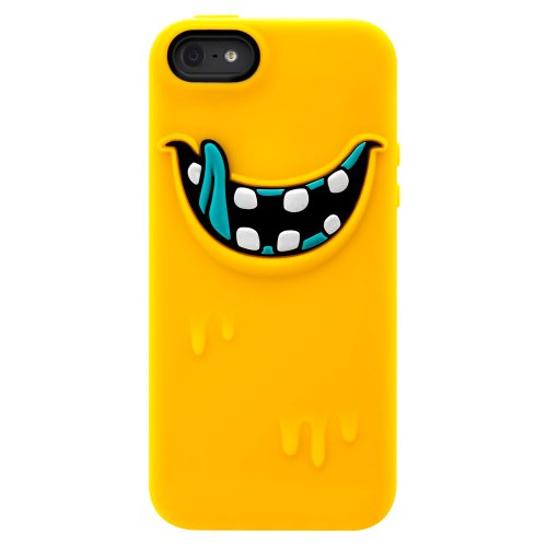 Freaky Monster Silikon Schutzhülle für Apple iPhone 5 gelb