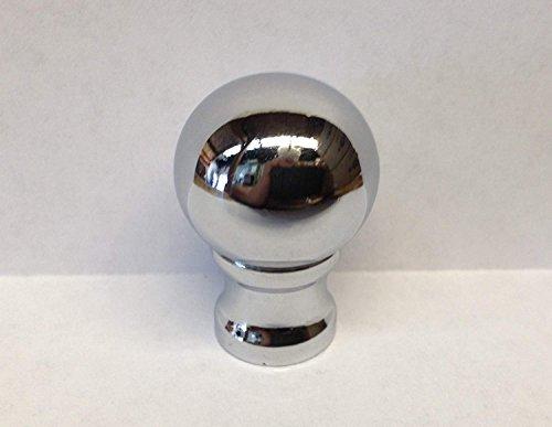 Metal Lamp Finial - Lamp Finial, Machined Metal Lamp Finial BALL DESIGN Chrome finish