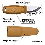 Morakniv Eldris Fixed-Blade Pocket-Sized Knife with Sandvik Stainless Steel Blade and Plastic Sheath, Yellow, 2.2 Inch