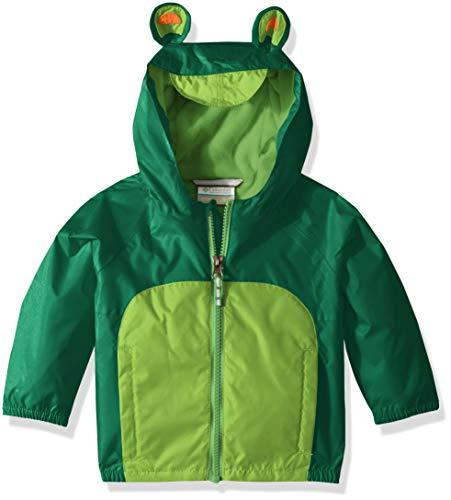 Columbia Kids' Toddler Kitteribbit Fleece Lined Rain Jacket, Ivy Cyber Green, 4T ()