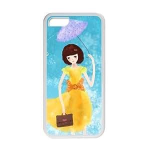 XiFu*MeiWelcome!iphone 4/4s Cases-Brand New Design Cartoon Girl In The Rain Printed High Quality TPU For iphone 4/4s 4 Inch -06XiFu*Mei