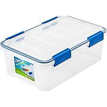 Ziploc WeatherShield 16 Quart Storage Box, Clear