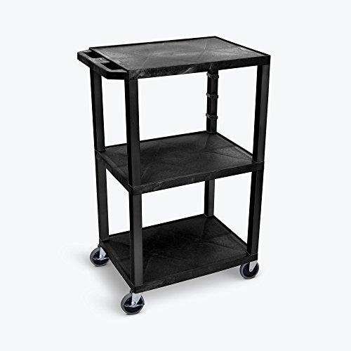 Luxor/H.Wilson 3 Shelf Tuffy Cart, Black (WT42) by Luxor/H.Wilson