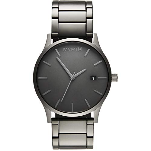 MVMT Classic Watches | 45 MM Men's Analog Minimalist Watch | Monochrome Link