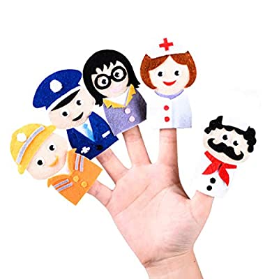 B bangcool 4 Sets DIY Finger Puppet Cartoon Storytelling Toy Finger Doll DIY Craft Toy: Toys & Games