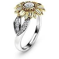 Aisamaisara 925 Silver Ring 1.38 Ct White Topaz Woman Men Fashion Wedding Ring Size 6-10 (9)