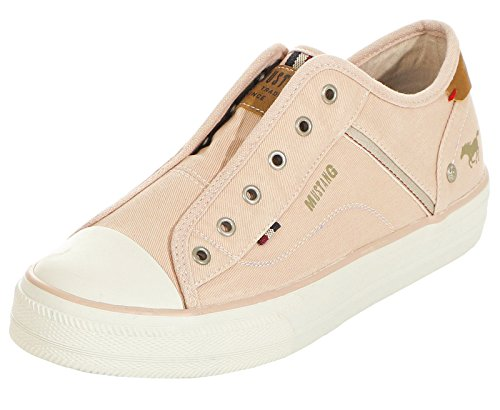 Slip Womens Rot Sneakers 555 Mustang on Rose 555 1272 401 xTqIgC1