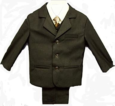 Amazon.com: Boys Brown Dress Suit, Compete Outfit with Pants ...