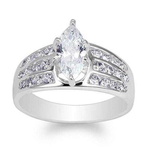 Channel Set Gemstone Ring - 9