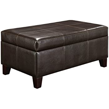 Dorel Asia WM3051EP2MWC Rectangle Storage Ottoman, Espresso
