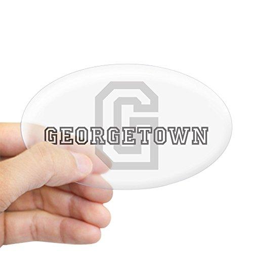 Georgetown Exterior Wall - CafePress Georgetown Sticker Oval Bumper Sticker, Euro Oval Car Decal