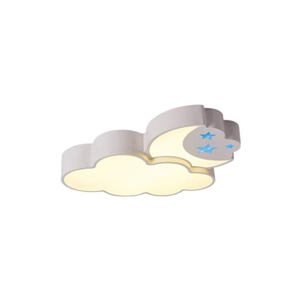 YANG Ceiling Light-Led Patch Iron Lamp Body Acrylic Shade Eye Protection Children Lights 56.5 52 8.5Cm - Energy Saving,Warm Light