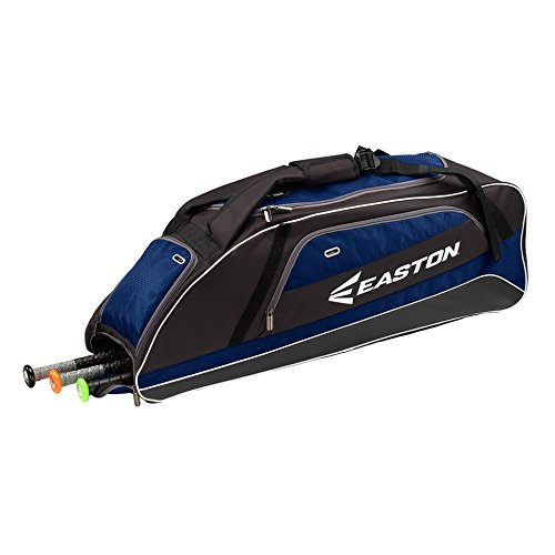 EASTON E500T Bat & Equipment Tote Bag | Baseball Softball | 2019 | Navy | 3 Bat Compartment | Vented Pockets | Interior Valuables Pocket | Water Bottle Pocket | -